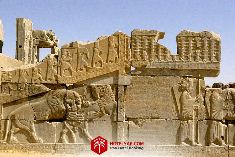 کاخ ه در غرب کاخ هدیش تخت جمشید شیراز