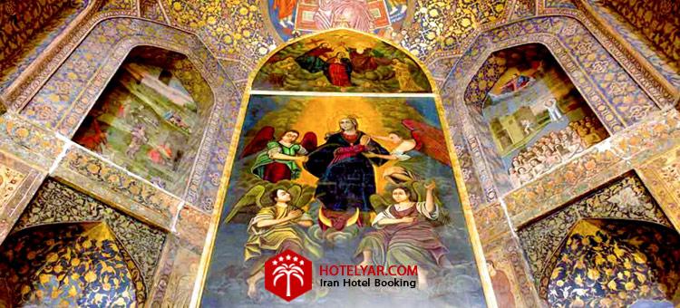 تصویر نقاشی های داخل کلیسا مریم مقدس تبریز