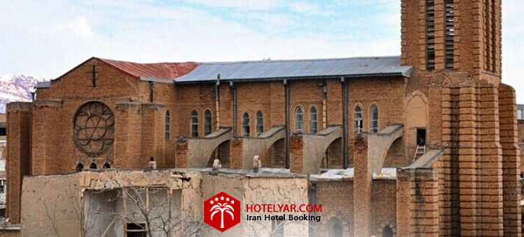 کلیسا کاتولیک ها تبریز ار بزرگ ترین کلیساهای ایران