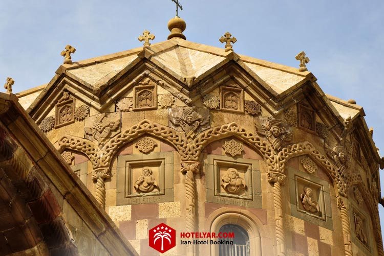 تصویر گبند 16 ضلعی کلیسا سنت استپانوس جلفا