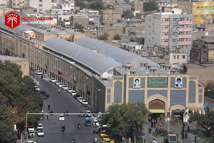 تصویر نمای بیرونی بازار رضا مشهد
