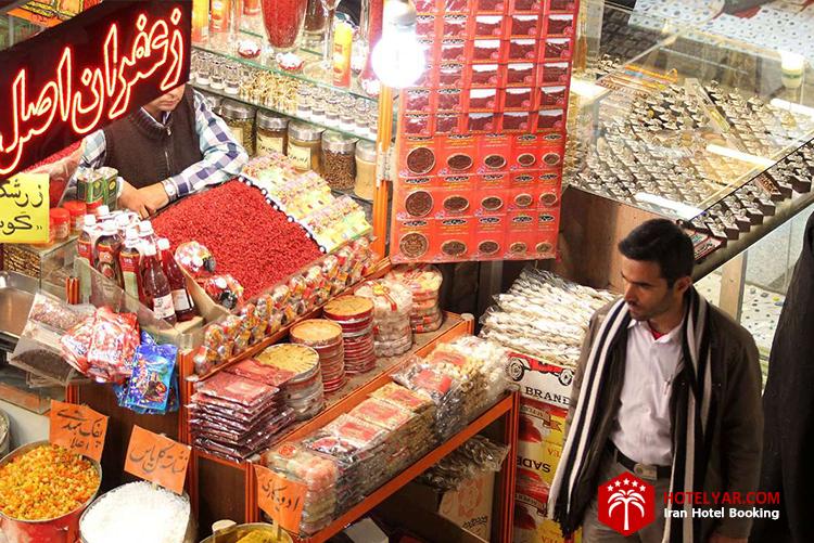 تصویر غرفه ای در بازار رضا مشهد
